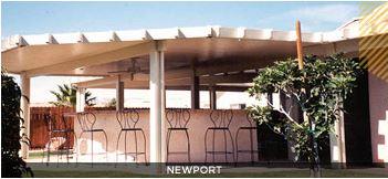 newport pergola alumawood