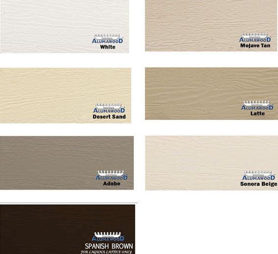 pergola styles colors alumawood