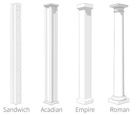 pergola column styles vegas